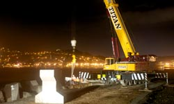 placing bridge beams Dunedin